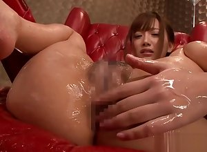 Japanese cosset plaything stacked nearby pussy together with irritant