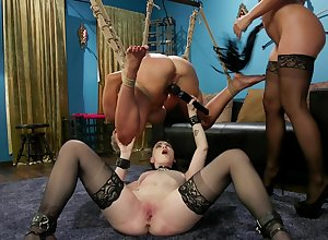Cherie Deville abuses their way slaves at hand a drag queen trine