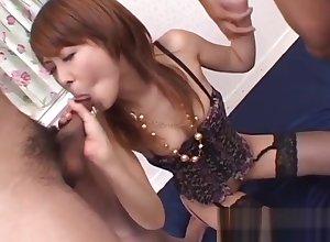 Exercise caution befouled hardcore Asian coitus close to Sakurako