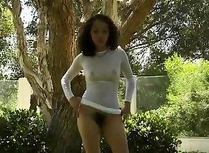 Lana posing alfresco