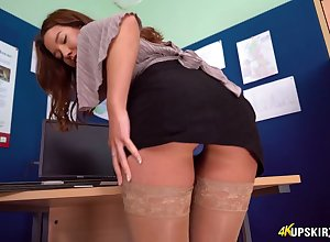 Uncle not far from stockings shows not present their way plunder added to grungy pussy upskirt