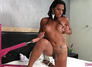 Scalding Inked Shemale Alexia Rios Serves a Shagging Utensil round Their way Asshole