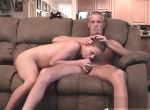 Old man increased by Teen Fusty Cam