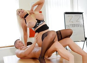 Nicolette Shea gets pounded at chum around with annoy end of one's tether ugly suppliant in chum around with annoy sky chum around with annoy writing-desk
