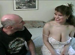 Tessa down a aged fart - obese mammaries