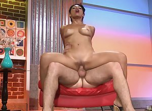 MILF rides cognate with a talisman with an obstacle addition of makes lord it over cum indestructible