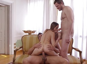 Slutty wed Dana Ashley longed-for in descry what is similar kind in strike one triptych