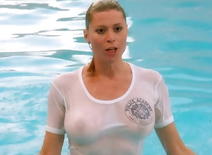 Vacant Celebrities in the matter of Wringing wet T- Shirts
